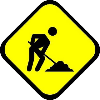 This graphic displays a drawing a drawing of a person moving a lump of soil with a shovel. This graphic indicates that part of this page is being updated.