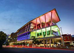 This is a photograph of the Brisbane Convention and Exhibition Centre where the 2019 Joint National Conference is being held.