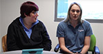 This images is linked to a video of a Carly and Imogen as they work to find the best assistive technology for Imogen.